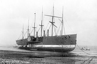 Rock Ferry - SS Great Eastern beached to be broken up.
