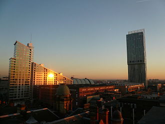 Assael Architecture - Sunset on the Great Northern Tower, Manchester
