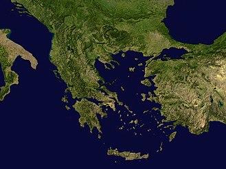 Műholdfelvétel Görögországról és a környező területekről