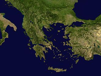 Outline of Greece - An enlargeable satellite composite image of Greece
