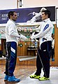 Greek Epee Fencers. Ilias Konstantinidis (left) and Agapitos Papadimitriou (right).jpg