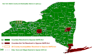 NY SAFE Act - County opposition to SAFE Act