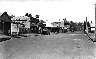 Greenbushes, Western Australia - Blackwood Road in Greenbushes, in the 1920s