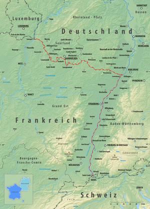 deutschland frankreich karte Grenze zwischen Deutschland und Frankreich – Wikipedia deutschland frankreich karte
