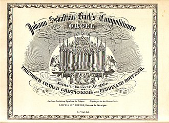 Fantasia in G major, BWV 572 - Image: Griepenkerl&Roitzsch Peters Bach organ works