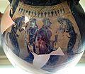 Gruppo delle foglie d'edera, anfora etrusca con arianna e dioniso tra due satiri, orvieto, 550-500 ac ca. 02.jpg
