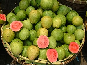Guava - Ripe apple guavas (Psidium guajava)
