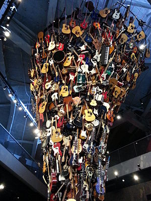 Museum of Pop Culture - Guitar sculpture at MoPOP