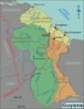 Guyana Regions map (fr).png