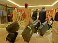 HK 銅鑼灣 CWB 柏寧酒店 The Park Lane Hotel night lobby hall visitors Luggates Dec-2013.JPG