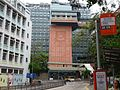 HK Pokfulam Road 香港潮商學校 Chiu Sheung School HKU MTR lift tower NWFBus 30X 970 stop signs May 2016 DSC 001.jpg
