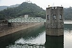 HK Shing Mum Reservoir Valve Tower and Steel Bridge.JPG