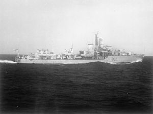 HMS Aisne (D22) - Image: HMS Aisne, c 1955 (IWM)