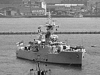 HMS Eastbourne (F73) visiting Amsterdam on 23 May 1969.jpg