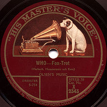 Disco pubblicato dalla His Master's Voice