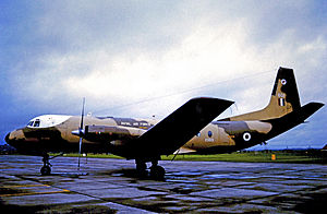 Hawker Siddeley Andover - Andover C.1 of 46 Squadron RAF in 1971