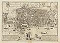 HUA-214004-Plattegrond van de stad Utrecht met directe omgeving met weergave van het stratenplan wegen watergangen de bebouwing in vogelvlucht en het grondgebrui.jpg