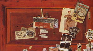 John Haberle - A Bachelor's Drawer by John Haberle, 1890–94, oil on canvas, 50.8 x 91.4 cm, Metropolitan Museum of Art, New York