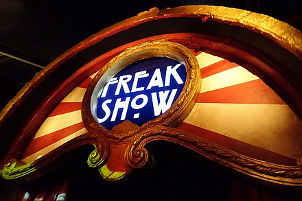 An image from American Horror Story: Freak Show, one season of the ongoing anthology series.