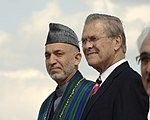 Hamid Karzai and Donald Rumsfeld, Sept. 25, 2006.jpg