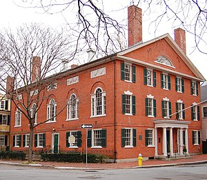 Federal architecture - Hamilton Hall was built in 1805 by Samuel McIntire in Salem, Massachusetts.