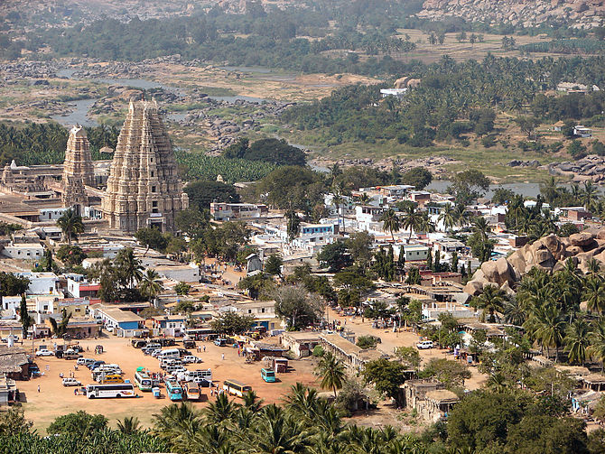 Modern day Hampi is a mix of the old Vijayanag...