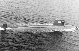A Type 091 submarine in 1993