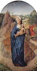 Hans Memling - Hans Memling - Triptych The Rest on The Flight into Egypt- central panel - Louvre.jpg