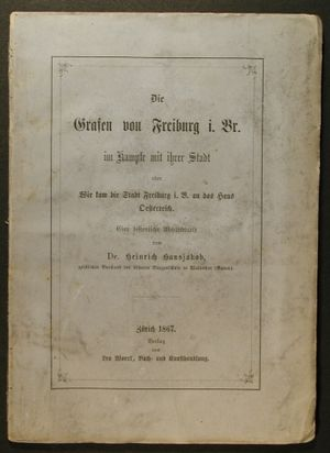 Heinrich Hansjakob - Hansjakob's dissertation