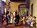 Hard life mother happy children mother in fight Helmstreitmühle in 1793.jpg