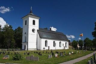 Harg Church church building in Östhammar Municipality, Sweden