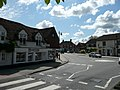 Haslemere Road and Portsmouth Road mini-roundabout in Liphook, Hampshire, England 2.jpg