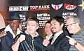 Hatton and Pacquiao with trainers.jpg