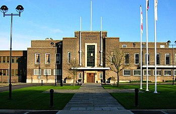 English: Town Hall of Havering London Borough ...