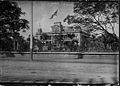 Hawaiian flag flying over Iolani Palace before Annexation ceremony (PP-35-8-005).jpg