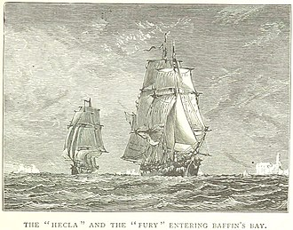 William Parry (explorer) - Hecla and Fury enter Baffin's Bay during the 1824 expedition