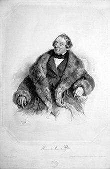 Heinrich Anschütz, Lithographie von Joseph Kriehuber, 1855 (Quelle: Wikimedia)