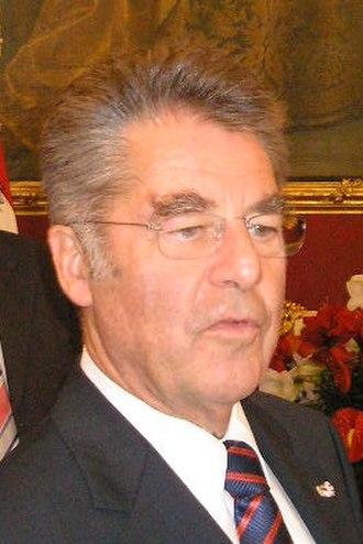 Austrian presidential election, 2010 - Image: Heinz Fischer Vienna Oct. 2006 001 cropped