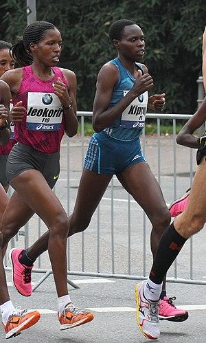 Helah Kiprop - Kiprop at the 2014 Frankfurt Marathon