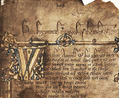 Geoffrey chaucer the beginning of english literature