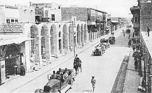 Hananu Revolt - French general Henri Gouraud passing through the Old City of Aleppo nearly two months after its occupation by French forces in July 1920