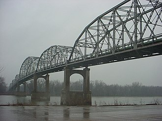 Illinois Route 18 - IL 18 crosses over the Illinois River at Henry, Illinois