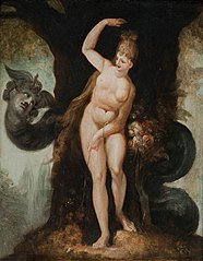 The Serpent tempting Eve (Satan's first address to Eve)