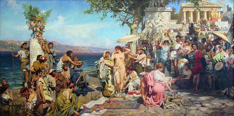 Файл:Henryk Siemiradzki, Frine alle feste di Poseidone a Eleusi, 1889.jpg