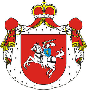 Prince - Coat of arms of the princes Sanguszko-Lubartowicz (Poland).