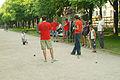 Herrenhäuser Allee Scene der Schülermeisterschaft beim Boulefestival Hannover 2012 II.jpg
