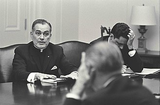 Theodore Hesburgh - Fr. Hesburgh chairs the Civil Rights Committee