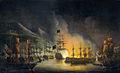 Het bombardement van Algiers, ter ondersteuning van het ultimatum tot vrijlating van blanke slaven, 26-27 augustus 1816 Rijksmuseum SK-A-1395.jpeg