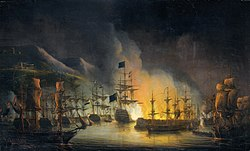 Martinus Schouman: Bombardment of Algiers, in Support of the Ultimatum to Release White Slaves, 26-27 August 1816