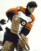 Ron Hextall emerged as the Flyers  starting goaltender in the 1986–87 season.  His rookie performance earned him the season s Vezina Trophy. 17e67d77f9b7